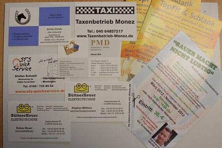 Visitenkarten,Flyer